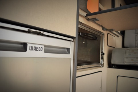 The brand new Waeco CRX50 fridge and 20litre Smev oven/grill